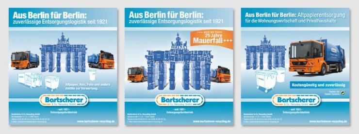 Werbekampagne Bartscherer Motive