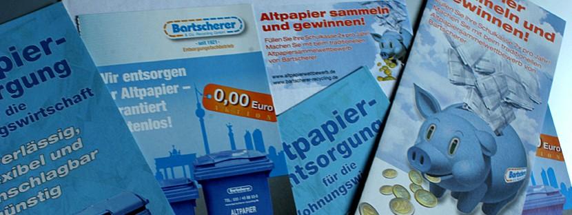 Texterstellung, Content-Creation und Grafikdesign für Flyer von Bartscherer