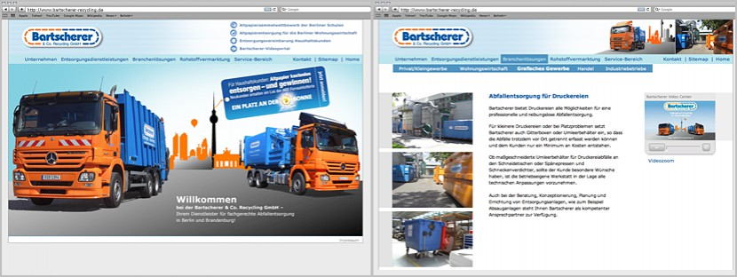 Webdesign Bartscherer Recycling