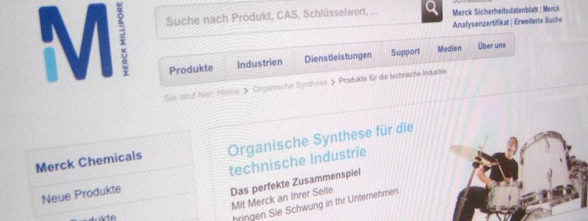 Webtexte Organische Synthese für Merck