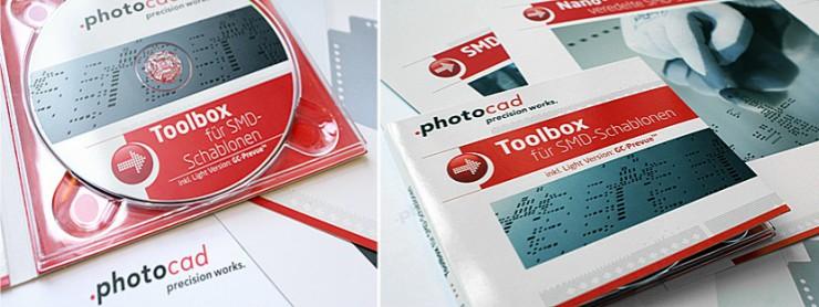Gestaltungsbeispiele photocad - hier CD und Toolbox