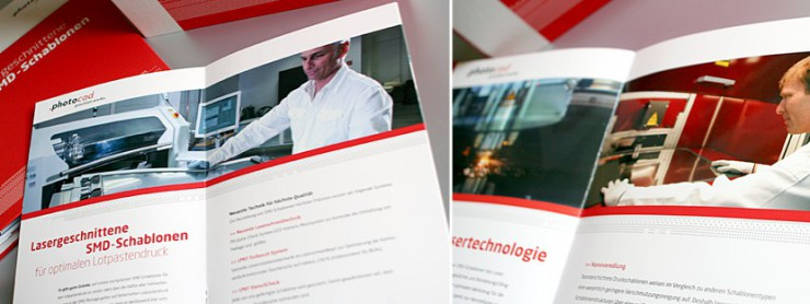 Innenansicht Unternehmensbroschüre photocad, Berlin