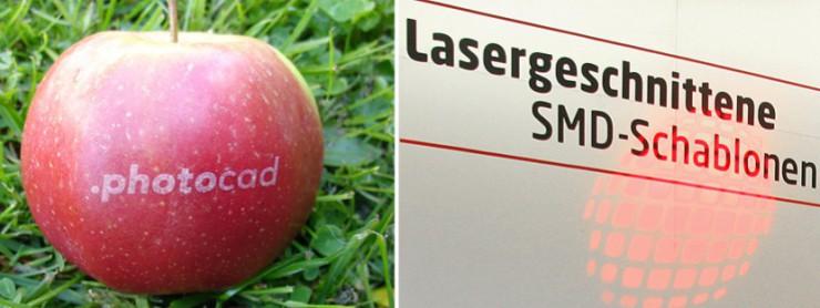 Mit photocad beschrifteter Apfle als Give away von photocad