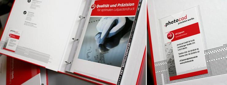 Gestaltung Unternehmensordner für photocad, Berlin