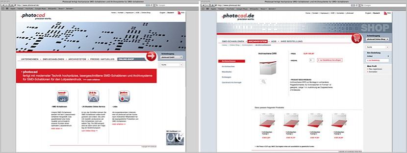 photocad webdesign Webshop-Optimierung