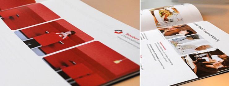 Innenansicht Angebotsbroschüre Schubert-Holding