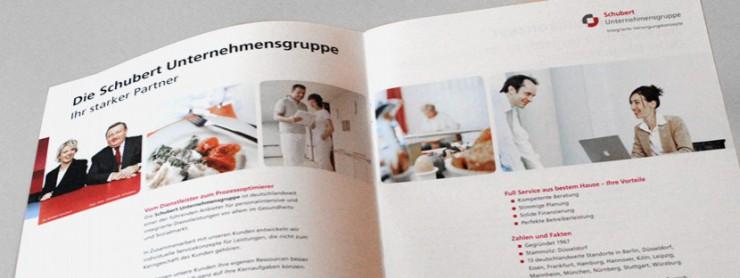 Innenansicht Broschüre Schubert-Unternehmensgruppe