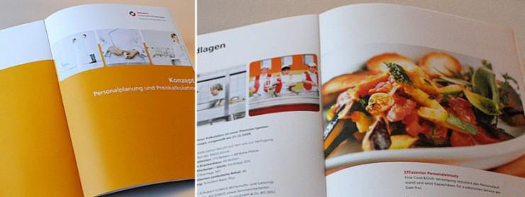 Abbildung Salatteller in Angebotsbroschüre Schubert-Unternehmensgruppe