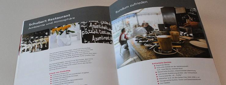 Beispielseite Ambiente in Angebotsbroschüre für die Schubert-Holding