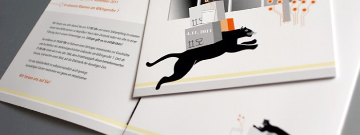 Tigris-Elektronik-Einladungskarte