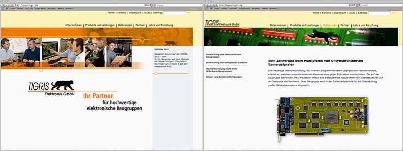 Tigris-Elektronik-Webdesign