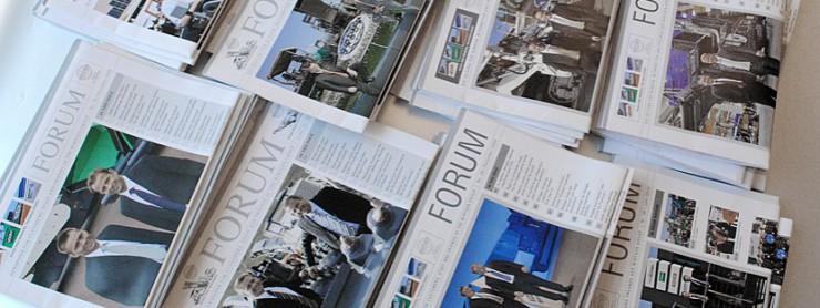 Beispiel Kundenzeitschrift FORUM, Wirtgen