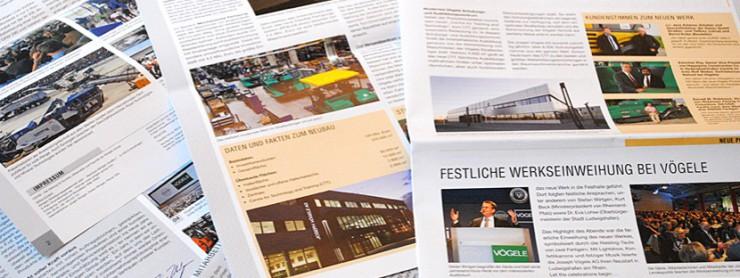 Innenansichten Kundenzeitschrift FORUM, Wirtgen