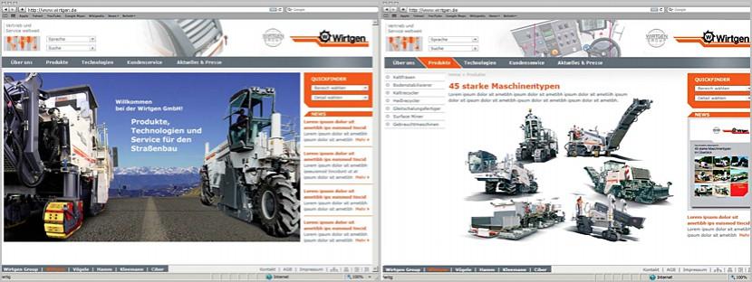 Wirtgen-Webdesign