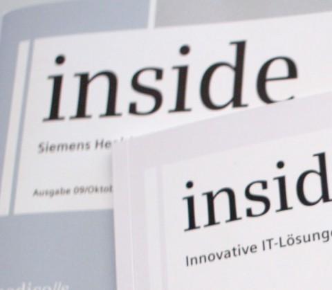 Bildmotiv Siemens-Kundenzeitschrift inside