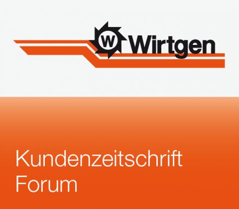 Bildanmutung Wirtgen-Kundenzeitschrift FORUM