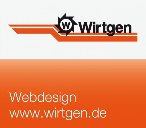 Bildanmutung Webdesign für Wirtgen