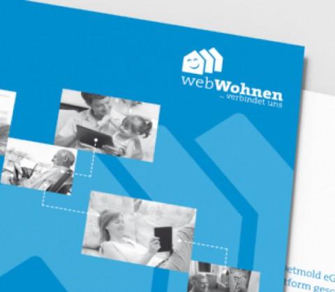 Gestaltung Broschüre für Wohnbau Detmold