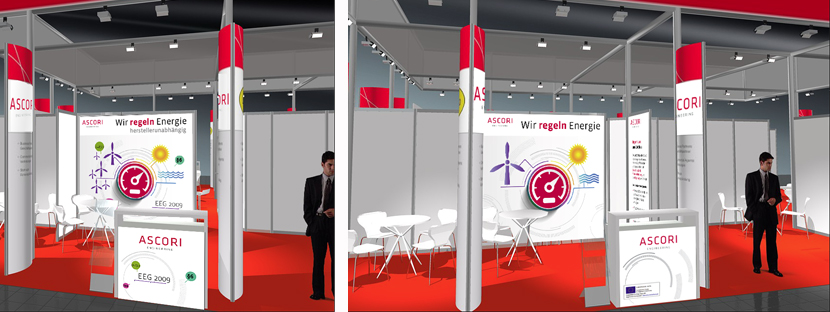 Messestand-Design für ASCORI Engineering auf der Hannover-Messe 2015