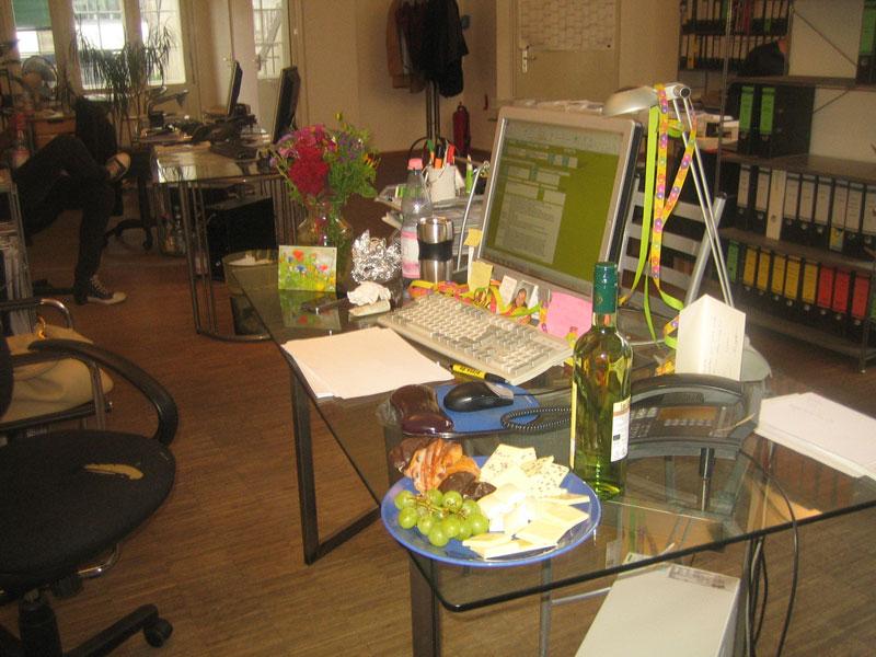 Geburtstagsfeier in den Hackeschen Höfen bei der B2B-Agentur unlimited communications