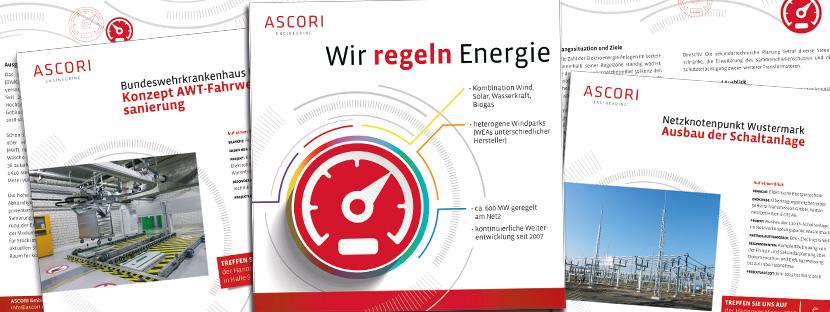 Printmedien: Flyer der ASCORI GmbH & CO. KG, Cottbus