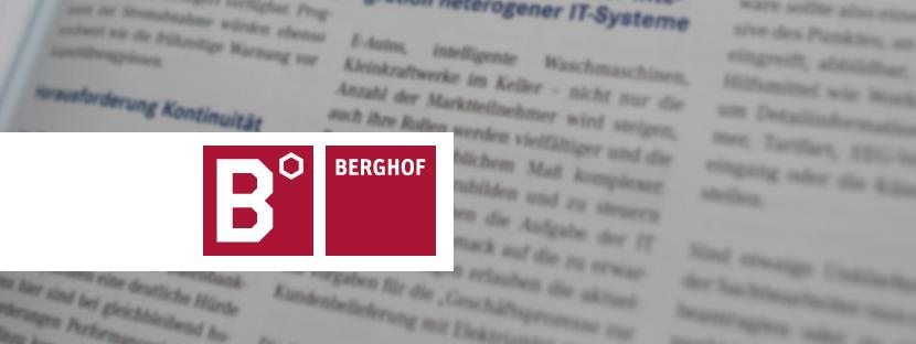 Texterstellung für die Kundenzeitschrift der Berghof-Firmengruppe, Eningen
