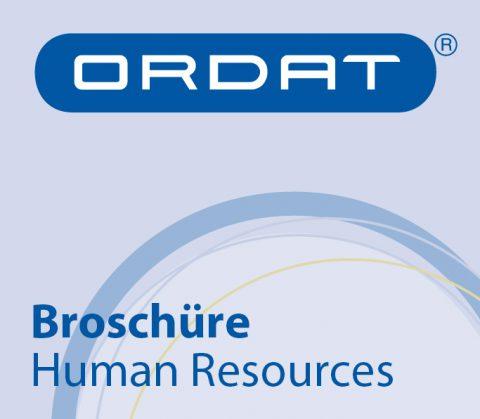 Gestaltung und Text Broschüre Human Resources für Ordat, Gießen