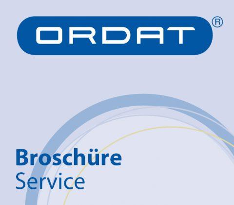 Service-Broschüre (Thumbnail) für Ordat, Gießen