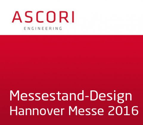 Messestand-Design Hannover-Messe 2016 für Ascori Engineering, Cottbus