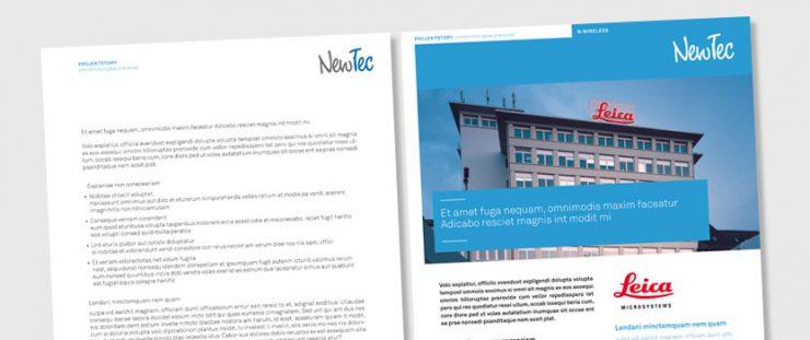 Grafikdesign ist Content Titelbild - Gestaltung und Texterstellung für NewTec